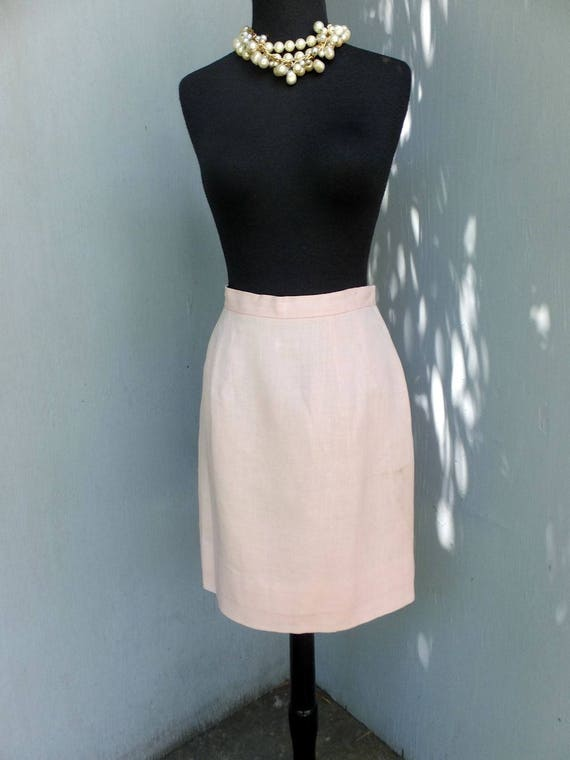 Vintage Suit, Anne Fogarty, Pink Linen Suit, Summ… - image 4
