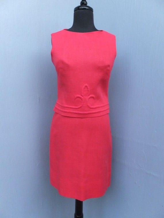 CLASSIC 1960s Suit,  I. Magnin, Linen Suit, Summer