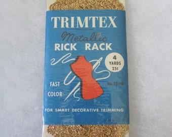 vintage metallic gold  rick rack