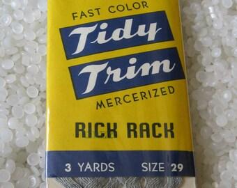 vintage rick rack grey gray