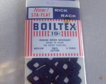 vintage Black rick rack