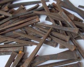 37 Antique 3\u201d nails vintage nails reclaimed square nails salvaged 12 pound