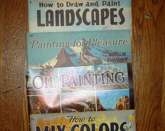 WALTER FOSTER and Merlin ENABNIT Art Instructional Soft Covered Art Books