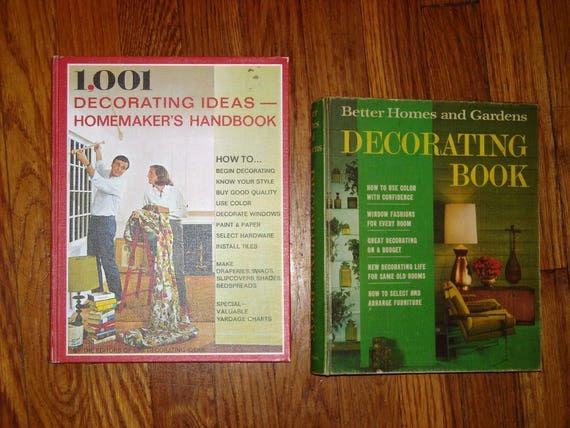 Two Books 1001 Decorating Ideas Homemakers Handbook 1969 And Etsy