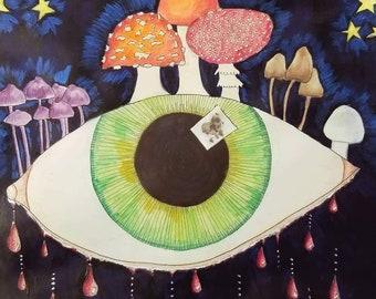 11x14 original mixed media painting by Tina Lynn Ellis
