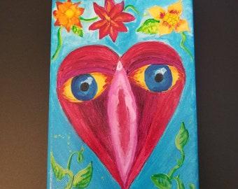 5x7 original acrylic on canvas painting by Tina Lynn Ellis