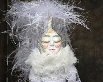 Art Doll White Unicorn Man