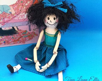 "OOAK Art Doll ""Messy Martha"" by Tina Lynn Ellis"