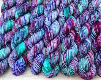 20g sock yarn 4 ply mini skein hand dyed merino
