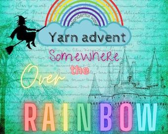 24 X 20g mini skein sock yarn advent calendar U.K. pre-order