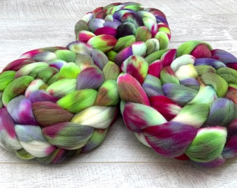 Rambouillet fibre combed tops roving hand dyed UK