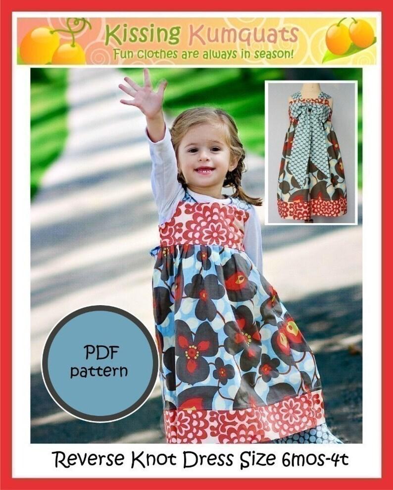 Kissing Kumquats Reverse Knot Dress PDF Sewing Pattern Size image 0