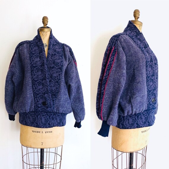 Margaret Hyne Sweater / Vintage Wrap Sweater / Pur