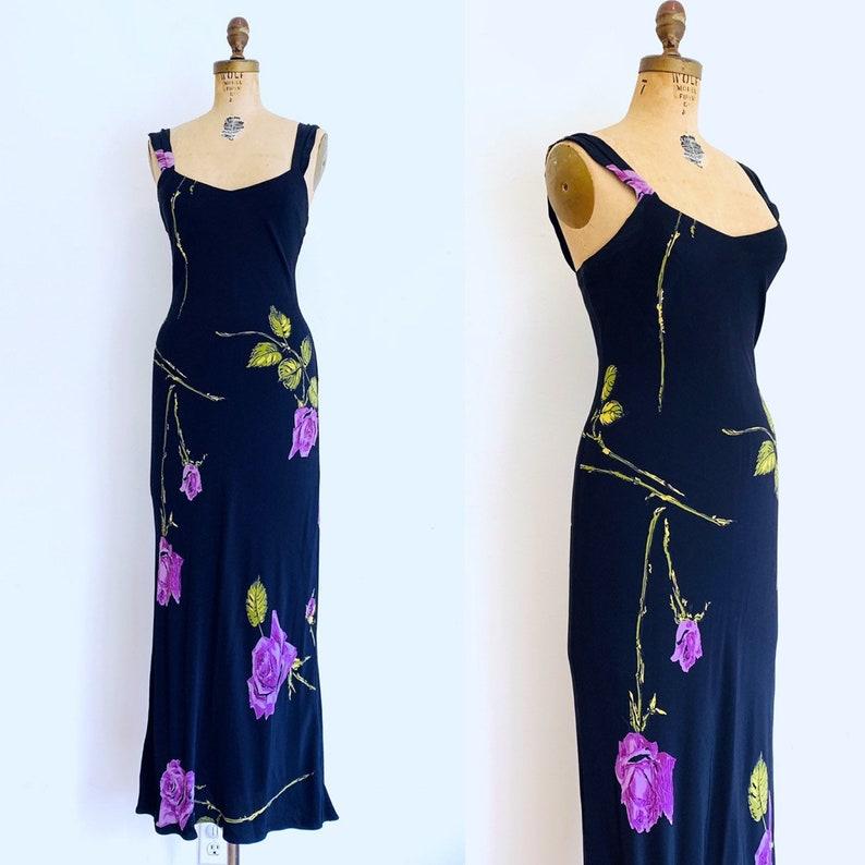 Vintage Betsey JOHNSON Dress / 90s Slip Dress / Bias Cut Dress image 0