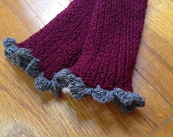Gyspsy Lace Gloves Crochet Wine Red Lacy Gloves Polly