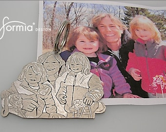 Personalized photo keychain handmade