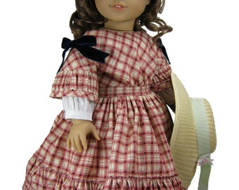 Civil War Victorian PDF sewing pattern for 18 inch American Girl doll 1850s Cherie