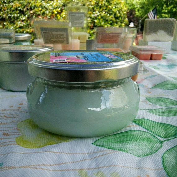 Island Hibiscus Scented Soy Candles in Glass Tureen Jars - Choose from 3, 6 or 11 oz