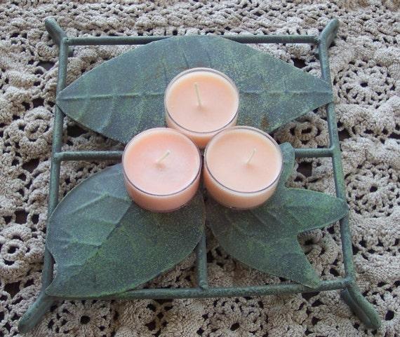 Customizable Set of 8 Handmade Tealight Soy Candles