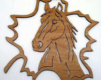 Fretwork Horse Maple Leaf 3 Ornament