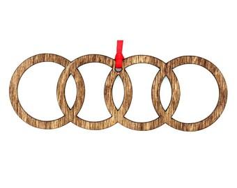 Wooden Audi Ornament