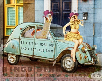Art Print, Llama art, llama, Inspirational, Inspirational Art, Motivational Art, Sassy, Sassy Art, Quote Art, Collage Art, Collage Art, Gift
