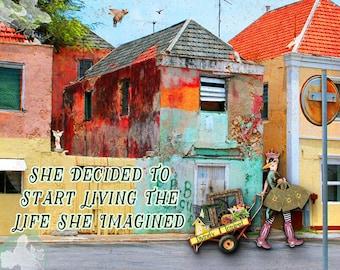 Art Print, Inspirational, motivational, Sassy, Inspirational Art, Sassy Art, Collage Art, Quote Art,  Motivational Art, Digital Art, Gift