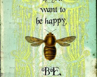 Art Print, Bee Art, Bee, Inspirational, Inspirational Art, Motivational Art, Quote Art, Digital Art, Collage Art, Gift, Unique Gift