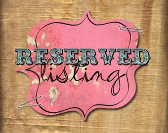 Reserved Listing For Amy Walker