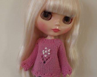 BLYTHE  SWEATER/JUMPER, Blythe outfit, Blythe clothes, Blythe knitted Top, Blythe top, blythe pink