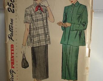 1940s Simplicity #2689 2 Pc Maternity Skirt /& Jacket Suit Junior Sz 14 Bust 32