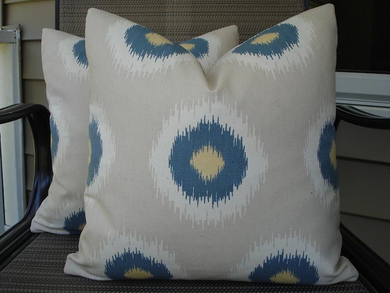 Silk cushion cover, 16x16inch double side ikat pillow Decorative Pillow Square ikat pillow Silk ikat pillow Handmade Silk Pillow