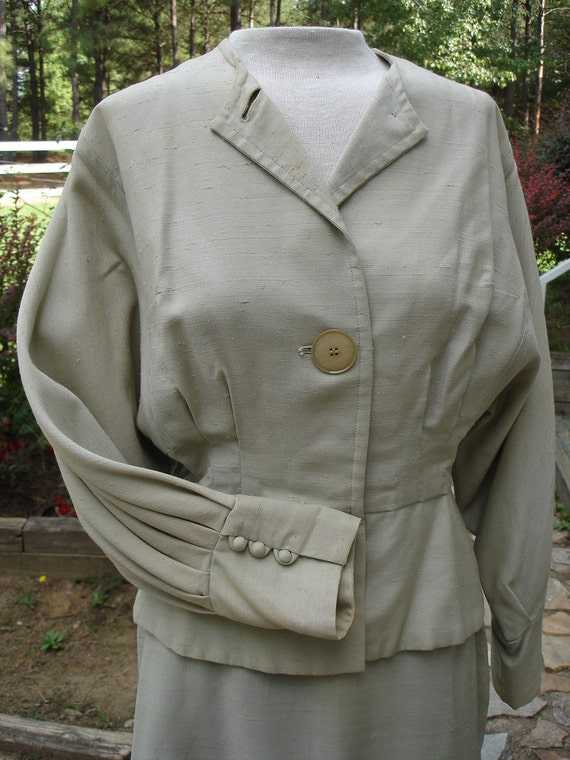 Vintage Womens Suit 2 Piece Suit 1950's Womans Sui