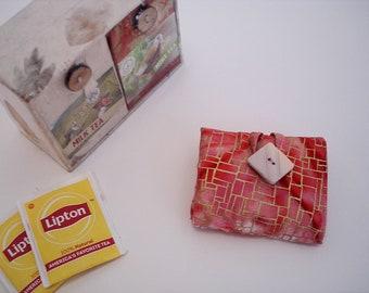 Tea Wallet Tea Bag Holder Travel Tea Wallet Organizer Foldable Tea Wallet Tea Keeper Tea Accessory Herbal Tea Holder Great Gift Tea Gift