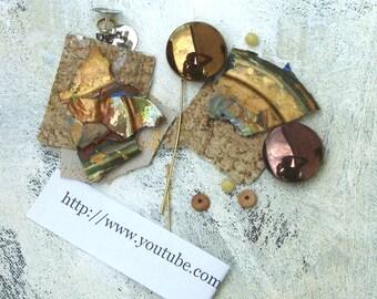 Bronze kit DIY earring making in autumn colors