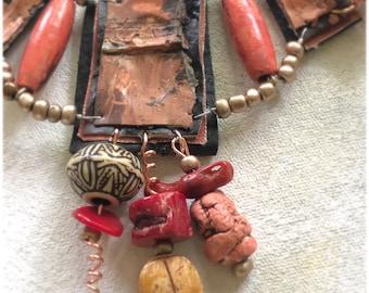 Primitive Autumn necklace