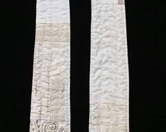 Reversible Modern Clergy Stole White Green | Easter | Unique Ordinary Times | Original Wedding Stole | Baptism Stole | Liturgical Art Stoles