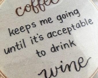 PDF Pattern: Coffee until Wine