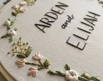 Custom Bride and Groom floral
