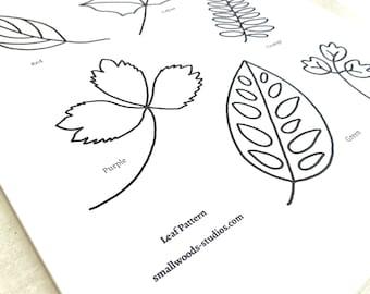 PDF Pattern: Leaves