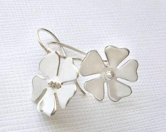 Sterling Silver Blossom Flower Earrings