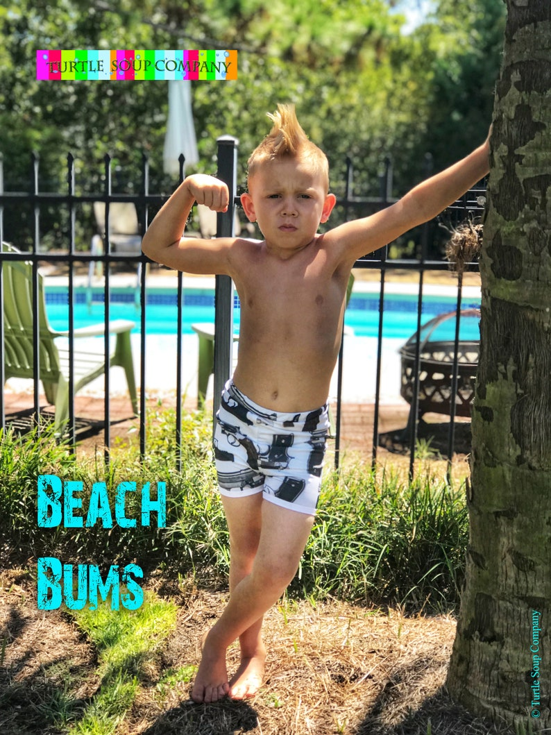 Swim Trunks Bathing Suit Diaper Cover Beach Bums Euro fitted image 0