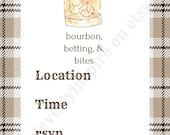 Bourbon Invitation, 5x7 ,...