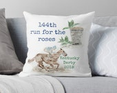 KY Derby Pillow, 2018, 14...