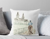 Dawn at Downs, Pillow, Derby, Kentucky, Churchill Downs, Southern, white background