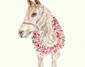 REPRINT: Racehorse, Derby Horse, Kentucky Derby, Jockey, Watercolor, Original Art, father's day