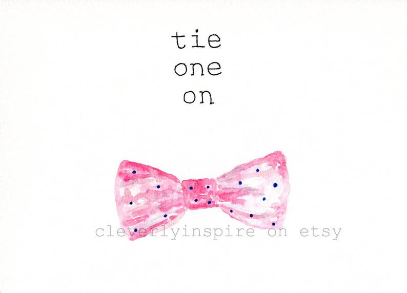 REPRINT: Bow Tie Pink Tie one on Run for Roses Kentucky image 0