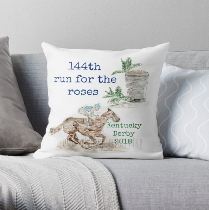 KY Derby Pillow 2018 144 Run for Roses Kentucky Derby image 0