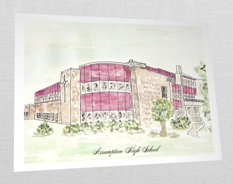 REPRINT: Assumption High School Rockets Louisville KY 8x10 image 0