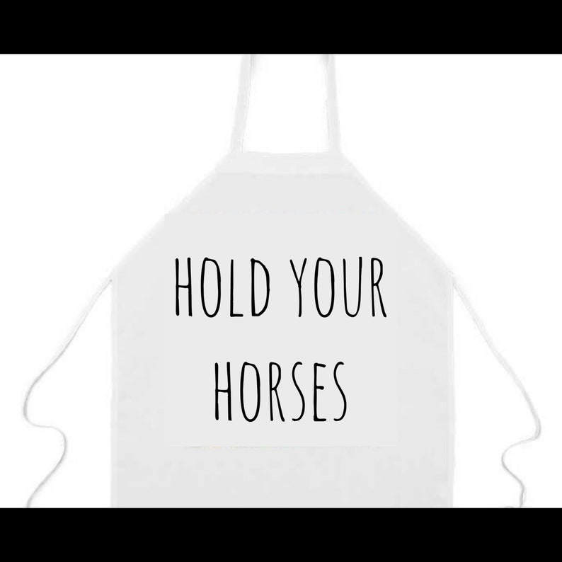 Apron: Hold your Horses Horses Racing Derby Southern image 0